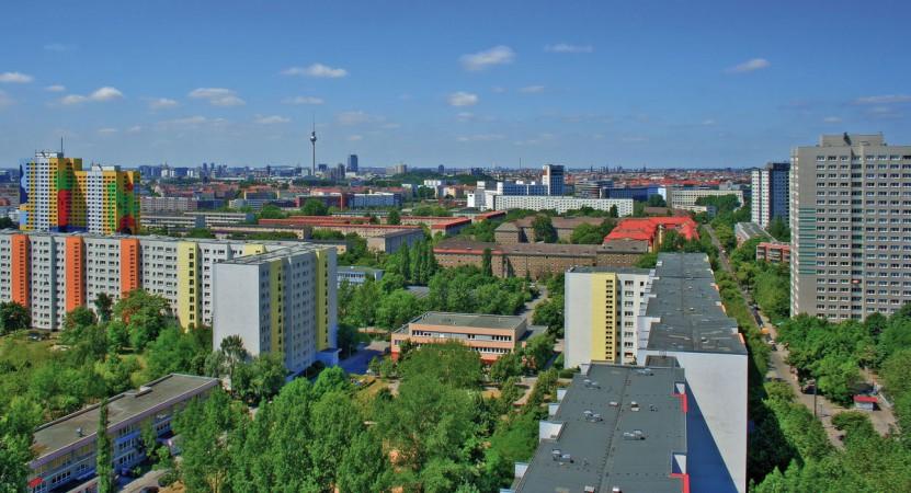 Panoramablick über Lichtenberg Richtung Stadtmitte © alm1982/Fotolia.de