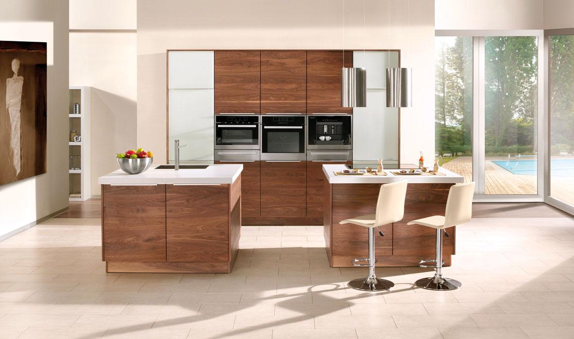 noce die k che im amerikanische walnuss stil. Black Bedroom Furniture Sets. Home Design Ideas