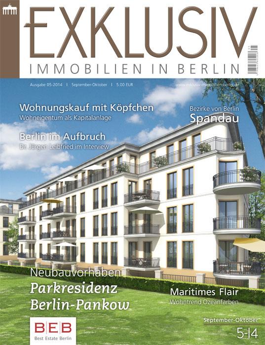 exklusiv immobilien in berlin ausgabe 05 2014 exklusiv. Black Bedroom Furniture Sets. Home Design Ideas