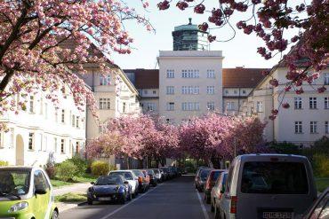 Blick zum Torbogen in den Ceciliengärten Berlin © Emmridet / wikipedia.de