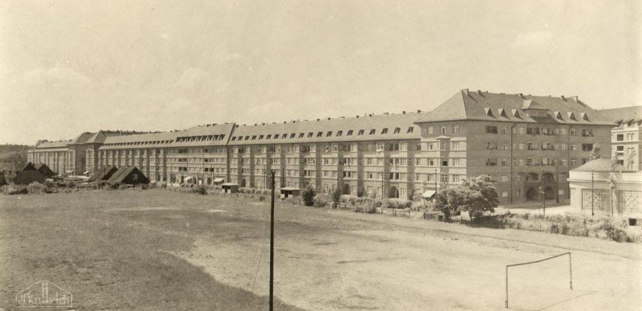 Ceciliengärten, Wohnhäuser an der Rubenststr. 14-48 von NO, Foto: Fritz Kullrich © MTS