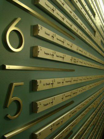 Klingeltafel im Corbusierhaus, Alejandro Bustamante Campillo, flickr.com (https://creativecommons.org/licenses/by-nc/2.0/deed.de)