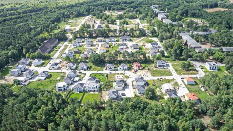 Luftaufnahme des Baugebietes