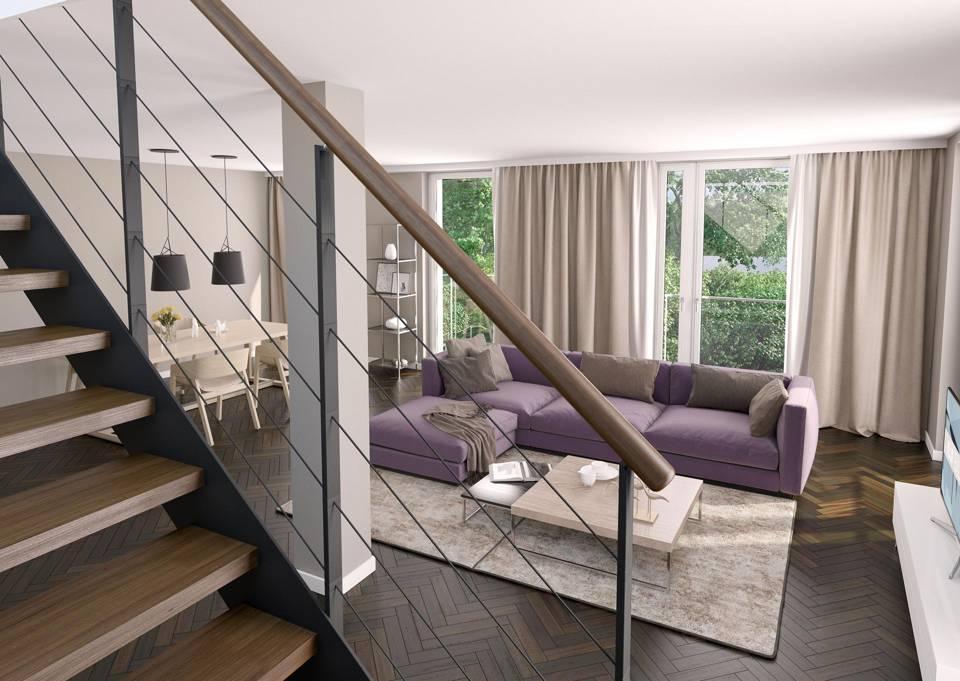 Baumgartenufer Wohnbereich Treppe