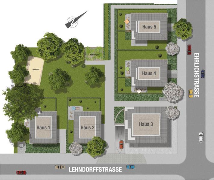 Villen Prinzenviertel Lageplan