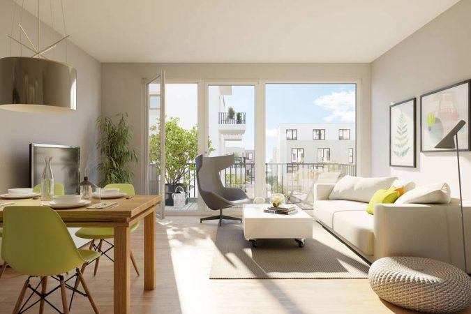 Das Lichtenhain • Torhaus, Wohnzimmer © BUWOG Group