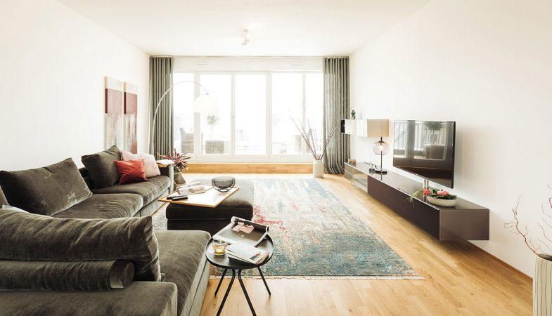 Wohnzimmer C/O MITTE © PROJECT Immobilien Wohnen AG