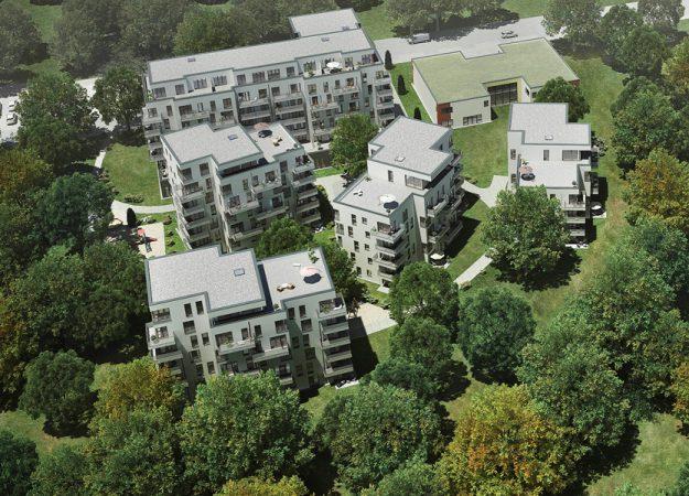 Wohnen im Park • Luftaufnahme • HELMA Wohnungbau GmbH