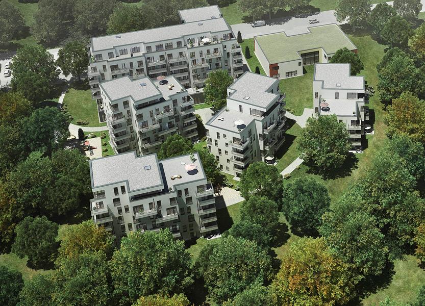 Helma Wohnen im Park Luftbild