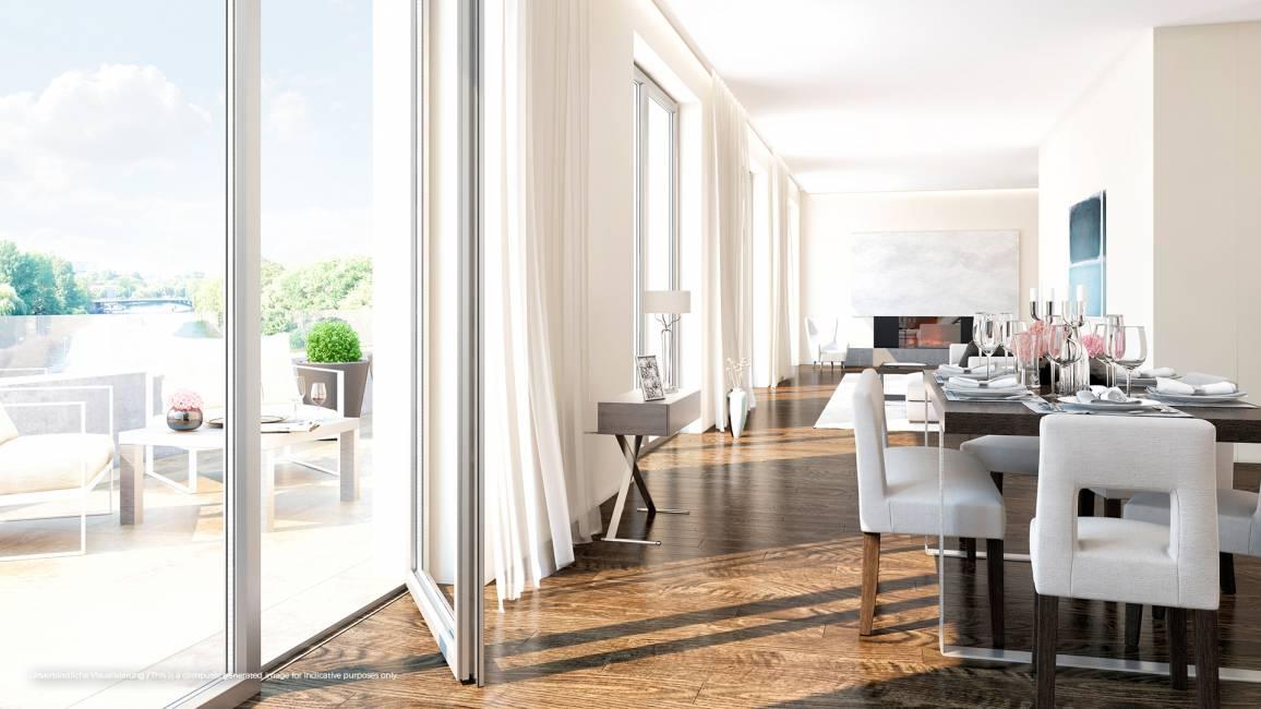 No. 1 Charlottenburg • Wohnzimmer Beispiel • © Ziegert Immobilien
