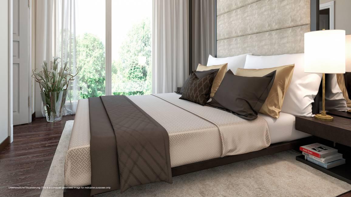 No. 1 Charlottenburg • Beispiel Schlafzimmer © ZIEGERT – Bank- und Immobilienconsulting GmbH