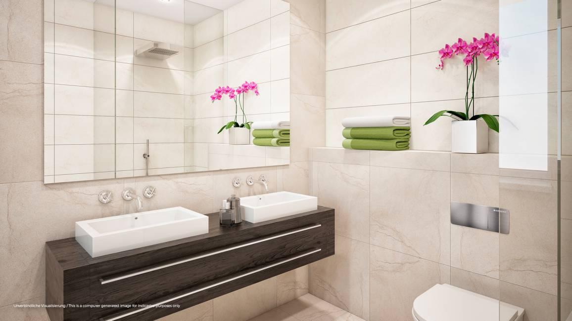 No. 1 Charlottenburg • Beispiel Badezimmer © ZIEGERT – Bank- und Immobilienconsulting GmbH