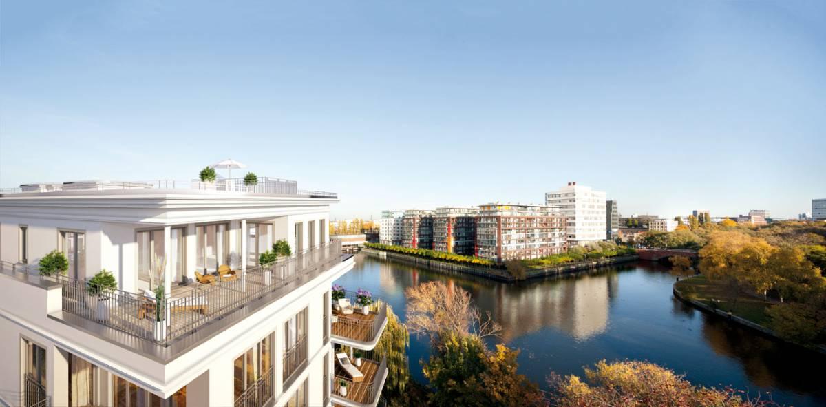 360 grad rundblick wohnen im penthouse exklusiv immobilien in berlin. Black Bedroom Furniture Sets. Home Design Ideas