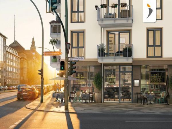 Palais 41, Straßenecke © PROJECT Immobilien Wohnen AG