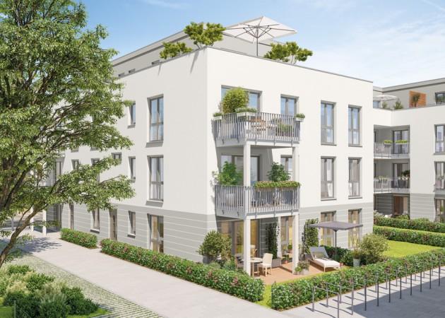 Parkquartier Altglienicke • Außenvisualisierung • © PROJECT Immobilien Wohnen AG