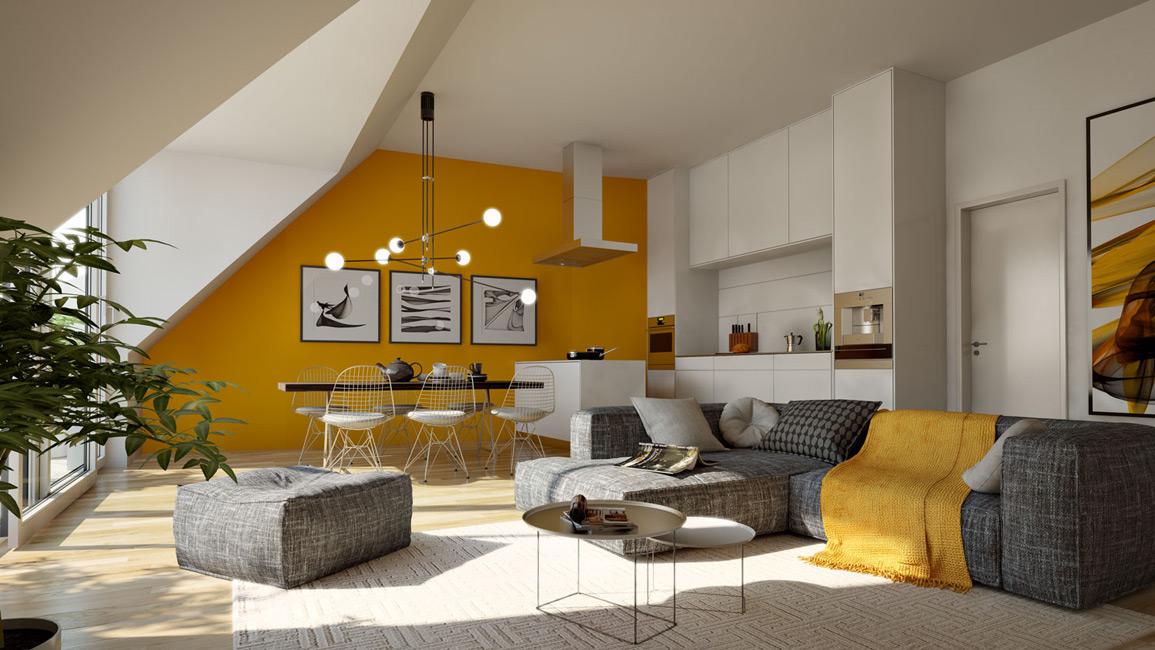 Wohnzimmer Mit Offener Kche C CESA Unternehmensgruppe