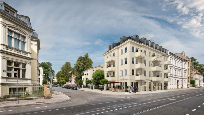 Sicht auf die Ecke Helene-Lange-Straße / Friedrich-Ebert-Straße © CESA Unternehmensgruppe