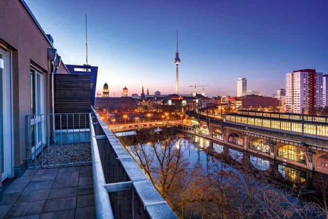 Ausblick von BE MITTE © PROJECT Immobilien Wohnen AG