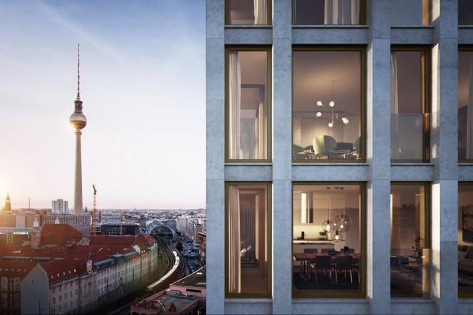 Erster neuer Wohnturm in Mitte • GRANDAIRE © Strategis AG