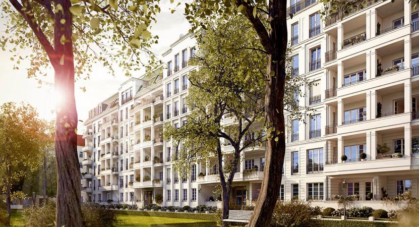 Großzügiger Innenhof mit Privatgärten • Am Hochmeisterplatz © Ziegert Bank- und Immobilienconsulting GmbH