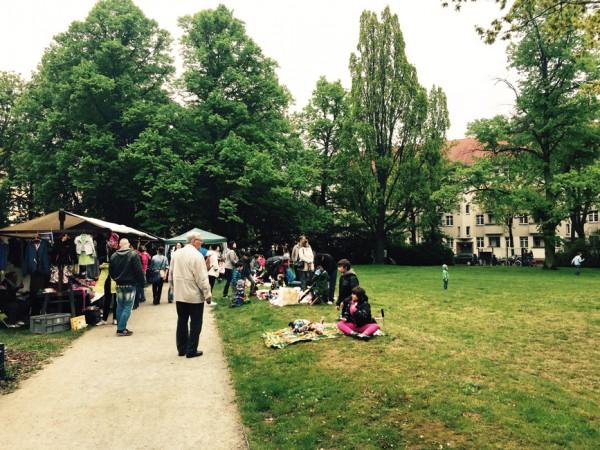 Kiesflohmarkt auf dem Freiaplatz © S.Weckeßer