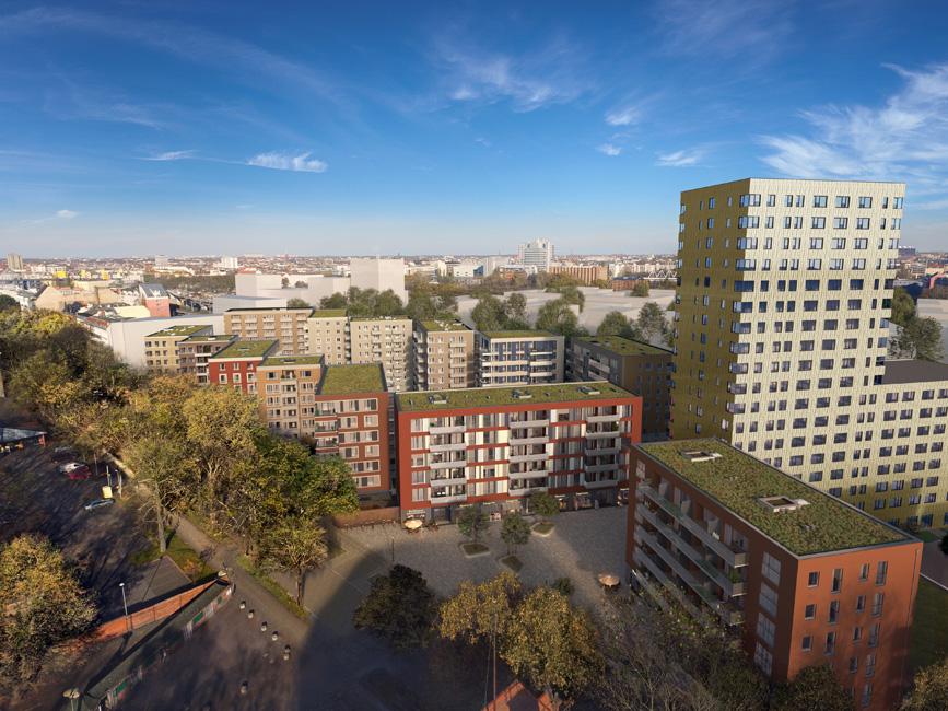 Mittenmang-Lehrter-Strasse-Aerial-Sued Richtfest für das Quartier Mittenmang in der Lehrter Straße