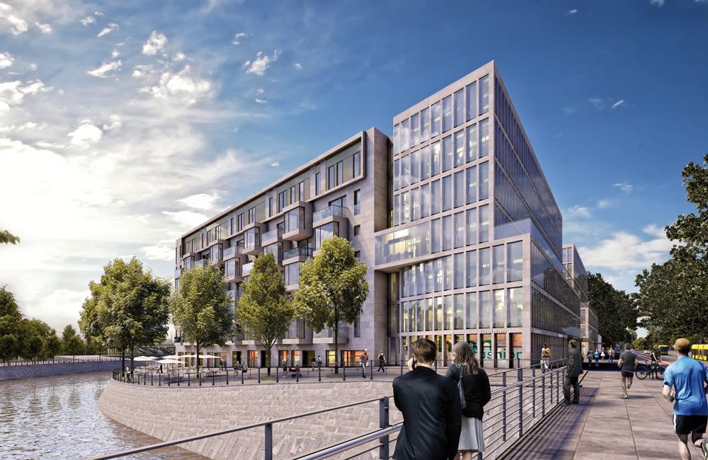 LIP_Humboldthafen_Buero_Wohnfassade Wohn- und Geschäftshäuser am Humboldthafen
