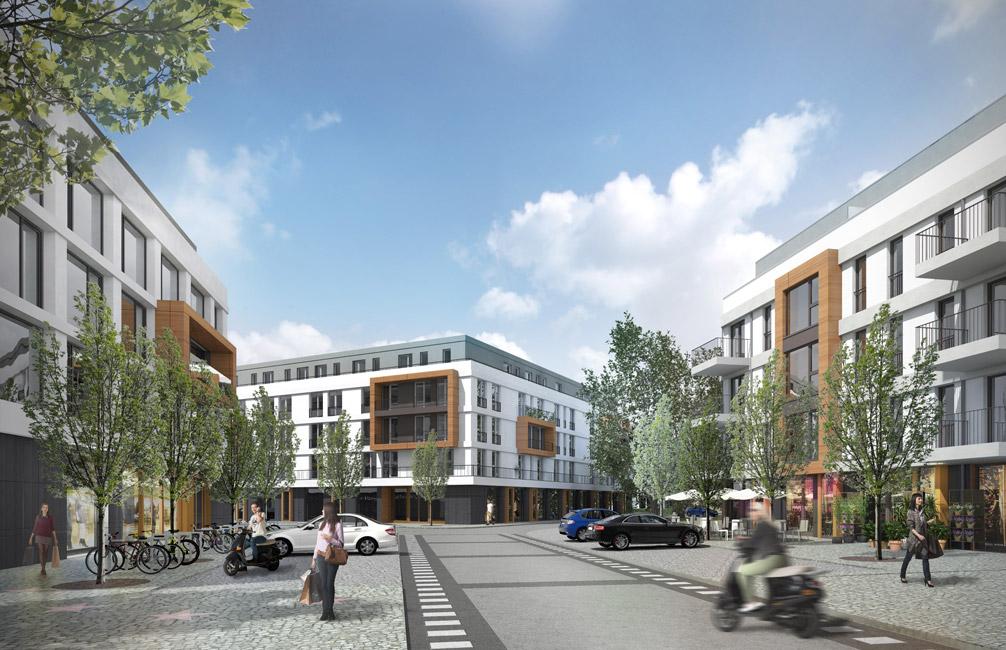 Marktplatz-Campus-Filmpark-Babelsberg-KW-Development Baustart für das Pentagon in Potsdam