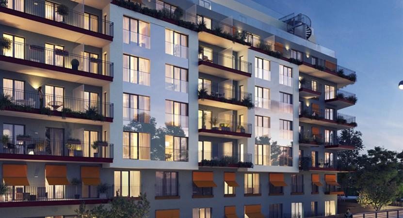 Mit 92 lichtdurchfluteten Eigentumswohnungen von zwei bis fünf Zimmern, acht dreigeschossigen Stadthäusern und zwei geräumigen Gewerbeeinheiten bietet das Wohnensemble kluge Raumkonzepte für jede Lebensform. © Ziegert Bank- und Immobilienconsulting GmbH