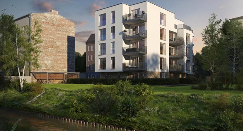 Die Panke im Blick: Sie fließt direkt hinter dem Haus © Ziegert Bank- und Immobilienconsulting GmbH