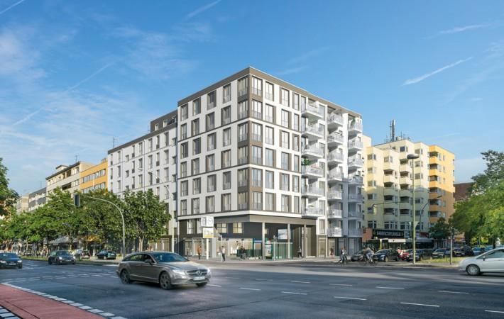 Nur 5 Gehminuten vom Volkspark entfernt, entsteht mit Uhland103 ein Neubau in sehr begehrter Lage von Berlin-Wilmersdorf. @ Project Immobilien Wohnen AG