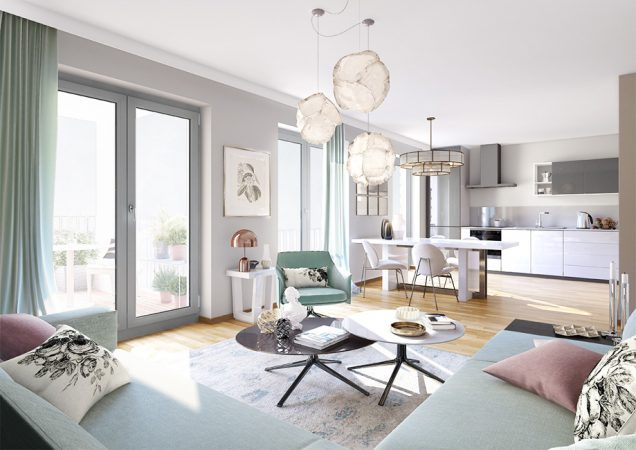 Maison Viktoria – Wohnraum © Project Immobilien Wohnen AG
