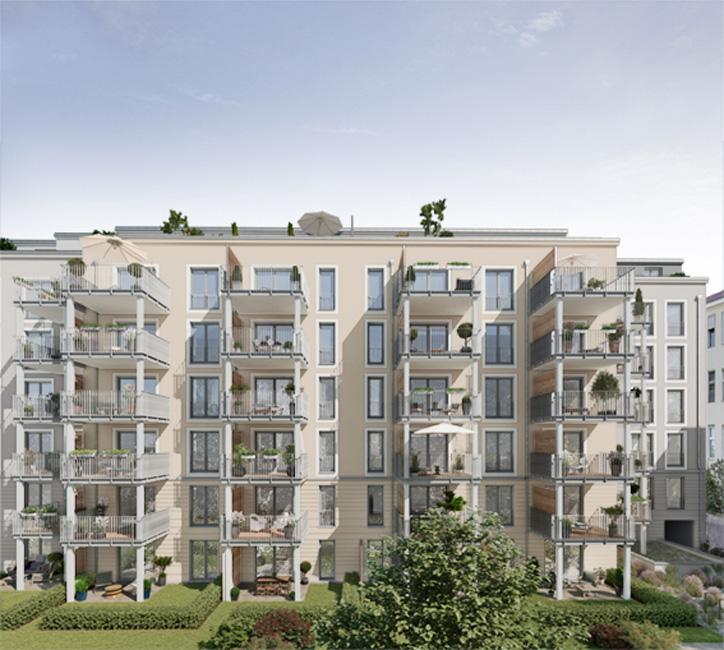 Maison Viktoria – Innenhof © Project Immobilien Wohnen AG