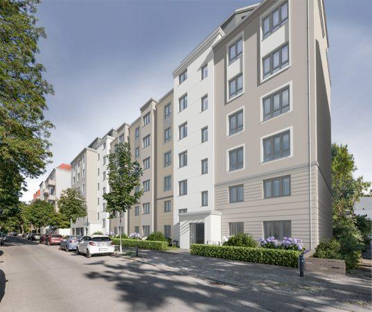 Maison Viktoria – Straßenansicht © Project Immobilien Wohnen AG