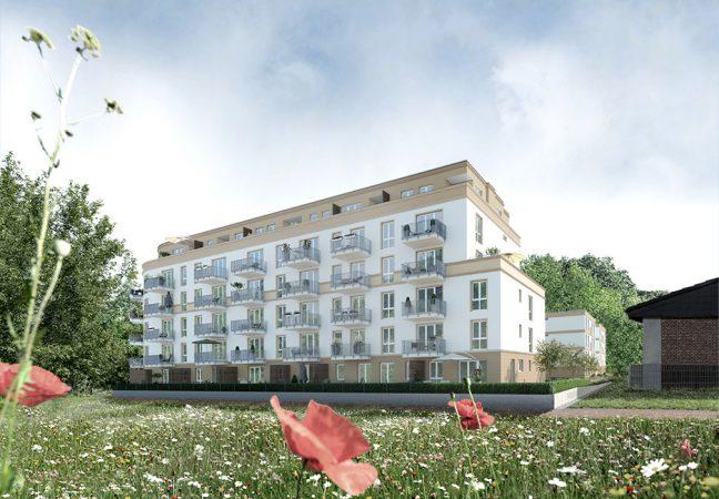 Das Grundstück befindet sich am Rande des Volksparks Schönholzer Heide. © Project Immobilien und Wohnen AG