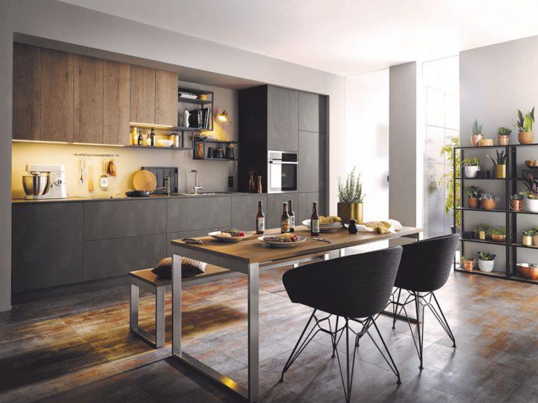 materialmix in der modernen k che exklusiv immobilien in berlin. Black Bedroom Furniture Sets. Home Design Ideas