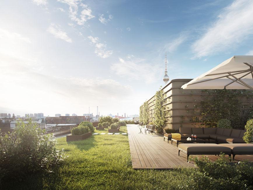 Eine Terrasse im Himmel über Berlin © Ziegert - Bank- und Immobilienconsulting GmbH