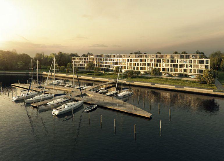 Nahezu alle zukünftigen Bewohner der Yachthafenresidenz Potsdam können von ihren Wohnungen einen freien Blick aufs Wasser genießen. © Engel & Völkers AG