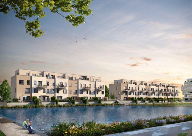 Die BUWOG Group entwickelt direkt am Ufer der Dahme ein Wohnquartier in bevorzugter Lage: 52° Nord. © BUWOG Group