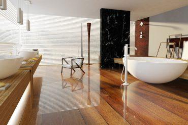 Und wenn die Badmöbel fleckig sind oder womöglich sogar der Nässe sichtbar zum Opfer fallen, ist es nicht mehr weit her mit der Schönheit der Möbel und der Entspannung beim Vollbad. © fotogestoeber / Fotolia.com