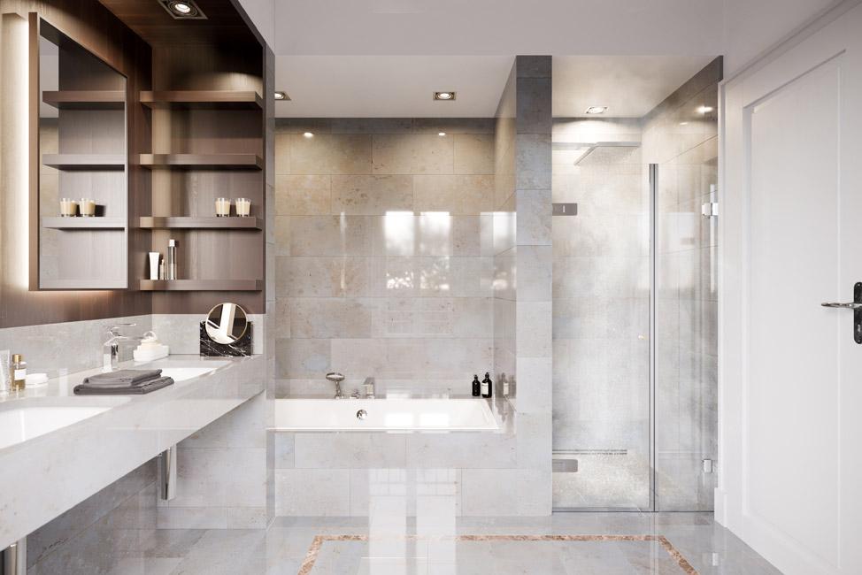 Hochwertigen Materialien in der Innenausstattung © David Borck Immobiliengesellschaft mbH