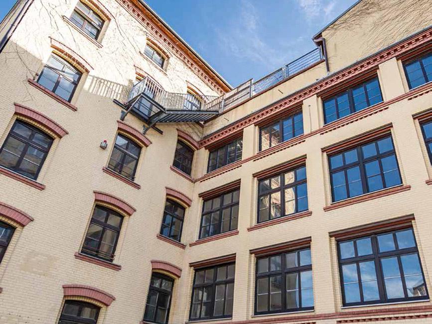 Lofts 23 – Das Gebäude von 1895 wird umfassend und professionell instand gesetzt. © ZIEGERT – Bank- und Immobilienconsulting GmbH