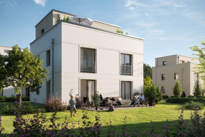 Im ausgebauten Dachstudio Ihres Doppelhauses können Sie Hanteln stemmen oder auf dem Hometrainer radeln. © Bonava Deutschland GmbH
