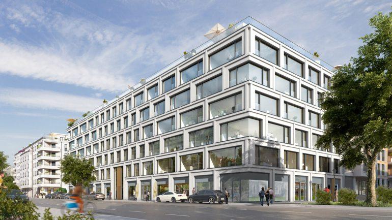 Mit den zwei großen Mietverträgen sind nun schon 70% der Gewerbeflächen vergeben, die Wohnungen im BOXSEVEN sind bereits zu 93 % veräußert. © BAUWERT Aktiengesellschaft