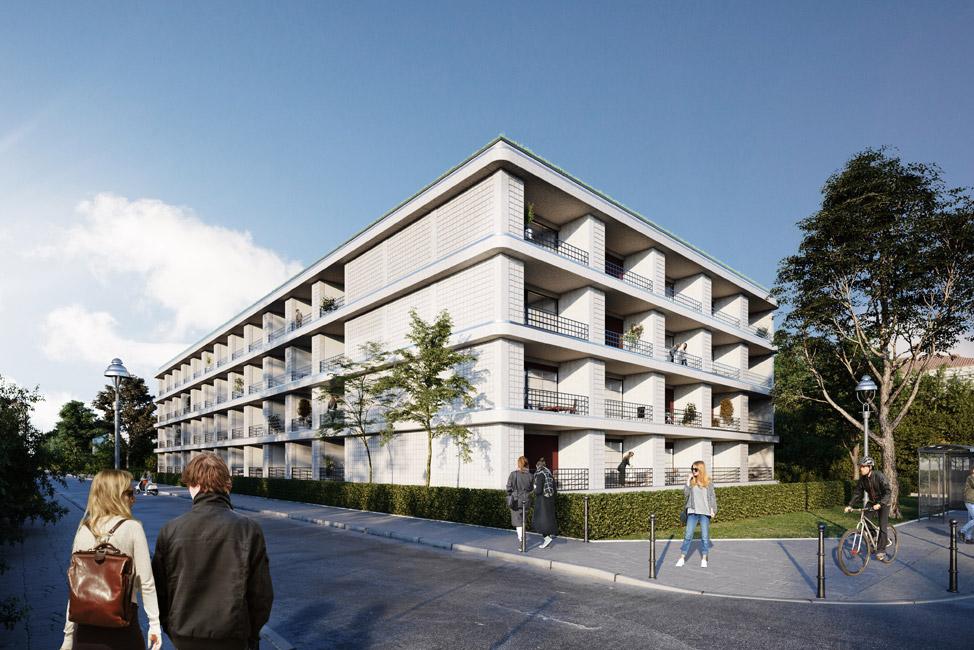 Nano_Strassenansicht Vertriebsstart für 68 City Apartments im Neubauprojekt Nano
