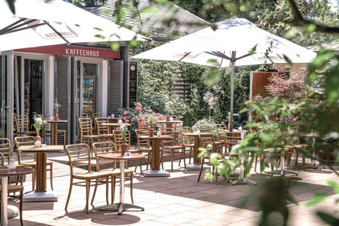 Das Kaffeehaus Rosenstein im Bürgerpark verzaubert mit tollen Speisen in attraktiver Lage. © PROJECT Immobilien Wohnen AG
