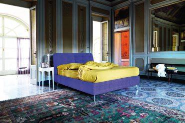 Zu den Wohntrends 2018 gehört das Bett PACO in den beiden Trendfarben Ultraviolet und Butterblumengelb. © WHO'S PERFECT