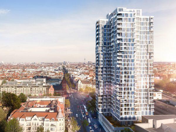 ÜBerlin: Wohnerlebnis mit unverbaubaren Weitblicken über die City. © RVG Real Estate Vertriebs GmbH