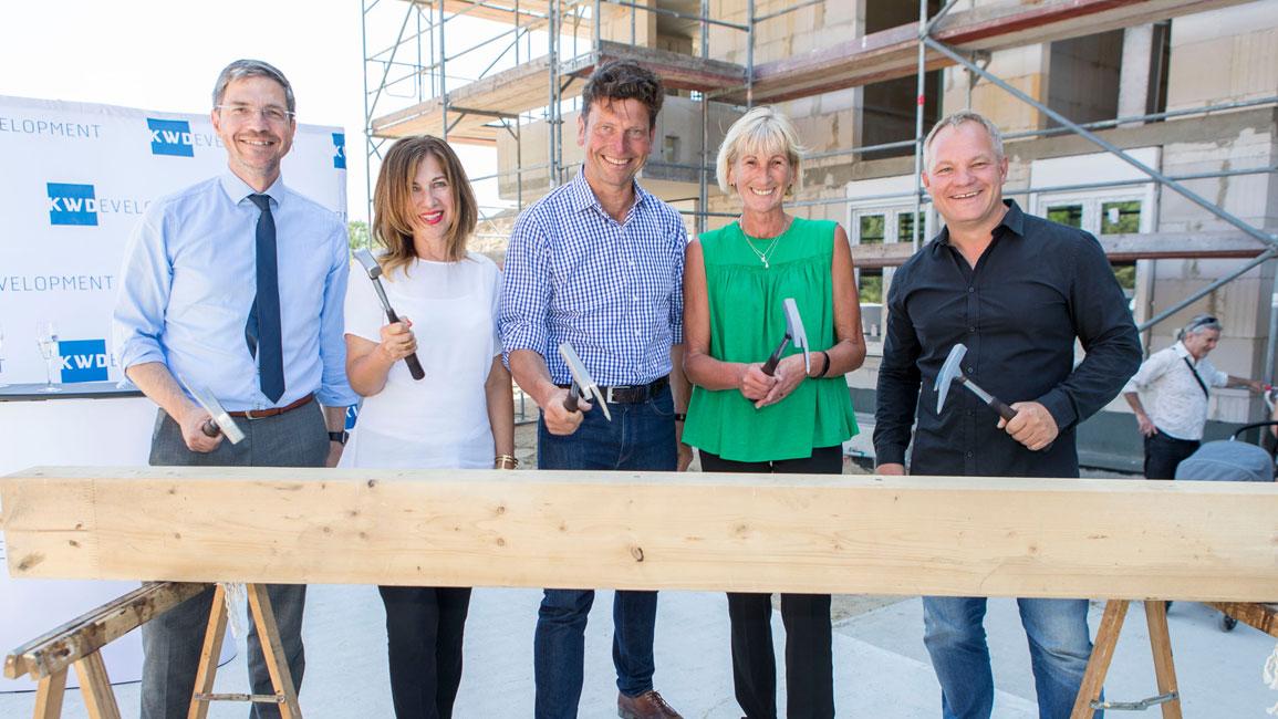 KW-Development-Brunnen-Viertel-Richtfest Richtfest für Eigentumswohnungen im Brunnen Viertel