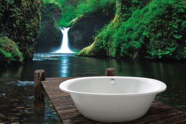 Naturdesign ist ein Fest fürs Auge! Nicht umsonst hat die Farbe Grün eine neue Bewegung bei der Badeinrichtung ausgelöst, in der Natürlichkeit, Nachhaltigkeit sowie Wohlfühlklima und Behaglichkeit zählen. Foto: Vereinigung Deutsche Sanitärwirtschaft (VDS) / © Kaldewei